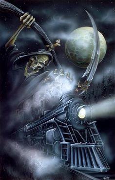 666 Grim Reaper Heavy Metal | grim Reaper night train Image