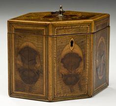 George III hexagonal tea caddy from Richard Gardner Antiques