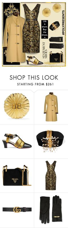 """""""#PolyPresents: Statement Shoes"""" by affton ❤ liked on Polyvore featuring Balenciaga, FAY, Gucci, E L L E R Y, Prada and Moschino"""