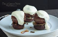 Philly cheesesteak meatballs