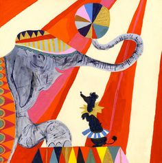 Jumbo and Friend by Louise Cunningham - art print from King & McGaw