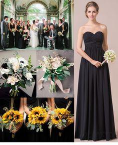 Mysterious black bridesmaid dress. #JJsHouse #JJsHouseBridesmaidDress