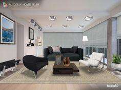 """Eche un vistazo a mi #diseño interior """"Sala cloud"""" de #Homestyler http://autode.sk/QK5bEp"""