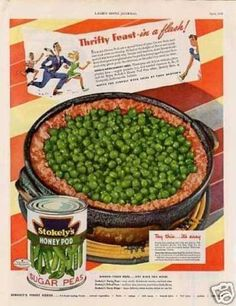 Stokely's Honey Pod Sugar Peas (1942)