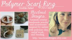 Win one of my Polymer Clay Scarf Rings plus several other great prizes!  February Group Giveaway