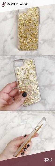"Gold Glitter Flake iPhone 7 Case Case-Mate ""Karat"" Gold Flake iPhone 7 Case Case-Mate Accessories Phone Cases"