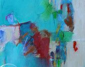 """Acrylic Abstract Painting Abstract Expressionist """"She Fixed All the Problems"""""""