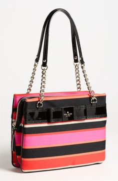 kate spade new york 'primrose hill stripe - zip darcy' shoulder bag available at Nordstrom