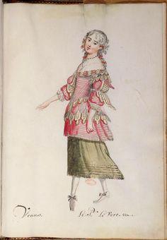 Ballet des noces de Pélée et Thétis – Vénus – 17e siècle.