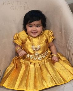 May the blessings of lord Ganesha always be upon you. Girls Frock Design, Baby Dress Design, Kids Frocks Design, Baby Frocks Designs, Kids Dress Wear, Kids Gown, Kids Outfits Girls, Dresses Kids Girl, Kids Saree
