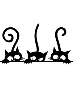 Take a look at this Funny Cat Wall Decal - Set of Three today!
