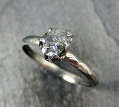 Raw Rough UnCut Diamond Engagement Ring Rough by byAngeline, $625.00