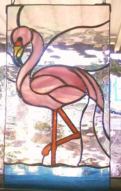 Gorgeous Stained Glass FLAMINGO by Lightworksartworks on Etsy, $60.00