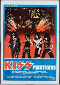 KISS Meets the Phantom of the Park (CIAD, Italian 4 - Fogli X Rock and Roll. - Available at Sunday Internet Movie Poster. Rock And Roll Bands, Rock N Roll, Rock 7, Kiss Rock, Banda Kiss, Kiss Concert, Italian Posters, Kiss Art, Kiss Pictures
