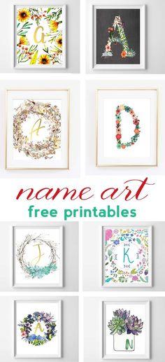 name art free alphabet printables   nursery decor   free printable art   wall art