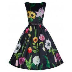 Audrey Wild Garden Swing Dress   Vintage Inspired Fashion - Lindy Bop