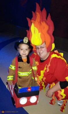 Fire and  Fireman - Halloween Costume Contest via @costume_works