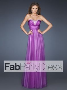 2013 Style A-line Sweetheart Rhinestone Sleeveless Floor-length Tulle Prom Dresses / Evening Dresses (SZ0301751) - FabPartyDress.com
