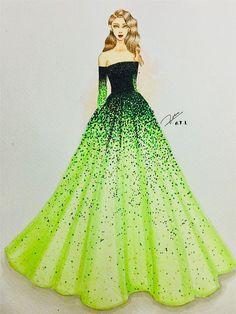 ORIGINAL Fashion Illustration - Das rosa Kleid - Mode-Design - Source by fashion drawing Dress Design Drawing, Dress Design Sketches, Fashion Design Sketchbook, Fashion Design Drawings, Dress Drawing, Fashion Sketches, Pink Drawing, Wedding Dress Sketches, Drawing Faces