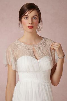 Beaded Botany Capelet from BHLDN  oooh I would have gotten one of these for my dress.