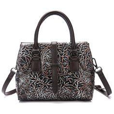 Fashion Women Embossed Genuine Leather Handbag Famous Brand Cowhide Single  Shoulder Bags Ladies Vintage Tote Bag Top Quality New 4139eda4fcab5