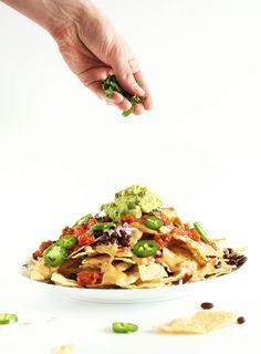 The Best Damn Vegan Nachos with Cashew-less Vegan Queso! #vegan #glutenfree #yum