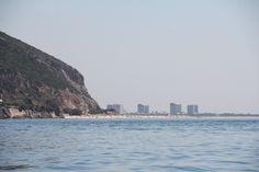 Vista da Praia do Portinho da Arrábida para Tróia, jul 2016