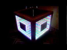 Led Bathroom Mirror Youtube ▷ infinity mirror table self made - youtube   duży pokój