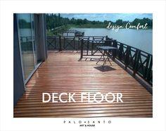 Deck en Madera Saligna 1x4 pulgadas. Colocado Y Pintado. Excelente M2 - Sistema Tradicional -