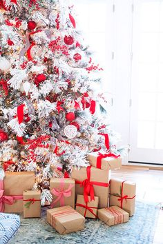 2bc90400a27 15 formas envolver regalos papel kraft regalos Navidad 2017