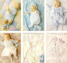 Baby knitting patterns layettes Baby Knitting Patterns, Baby Knitting Free, Knit Baby Sweaters, Knitted Baby Blankets, Premature Baby, Free Baby Stuff, Baby Booties, Baby Hats, Baby Dresses