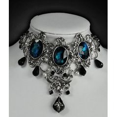 I really really would love to get this!!!!!!      Dark Desires Cyan Gothic Victorian Choker Collar