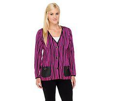 Bob Mackie's Knit Striped Jacket