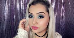 Blog Carla M.: Maquiagem Colorida Marcante - Verde água Sereia