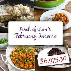 Making Money from a Food Blog - February