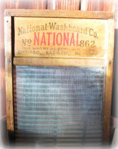Antique National Washboard Glass No 862 Top by Angieswhimsynook, $30.00