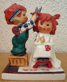 GOEBEL CHARLOT BYJ 5 SHEER NONSENSE! TM4 REDHEAD FIGURINE W. GERMANY MINT #Figurine
