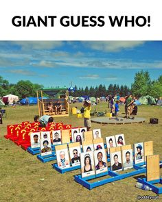 How amazing would tihs giant version of Guess Who be with pictures of your friends or family?!