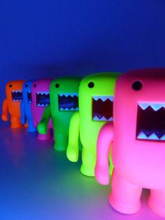 "Domo 4"" Black Light Figures"