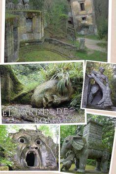 El jardín de Bomarzo (Italia) The Bomarzo garden (Italy)