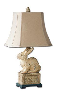 Uttermost Leverette Rabbit Table Lamp  Item #: 27159 Available through Gabriele's BrandSource.