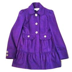 BNWOT Hydraulic deep purple peacoat Brand new, never worn, Hydraulic peacoat. Deep purple with gold buttons. Size medium. Perfect with a dress or jeans. Hydraulic Jackets & Coats