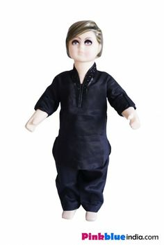 Shopping online in India the stunningly smart and fashionable black colored kurta pajama for young kids boys in India.
