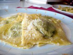 Receita Entrada : Ravioli com recheio de alheira e espinafres de Chef Spadanini