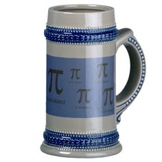 Just Pi, Nothing More Stein. With Pi Day around  the corner, this stein would make a great gift for a math student or professor in your world. Maybe have a beer with them to Celebrate Pi Day.