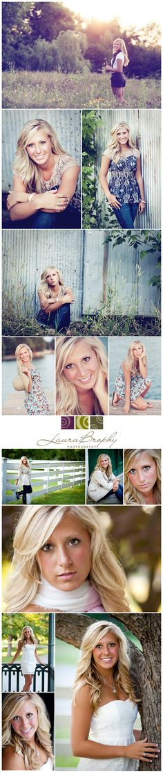 senior pictures...I love the top photo!