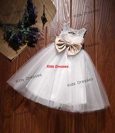 Flower Girl dress Girls White or Ivory Lace by kidsdresses on Etsy