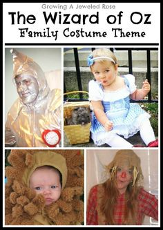 The Wizard of Oz- a fun family costume theme! If we have another child we are so doing this!