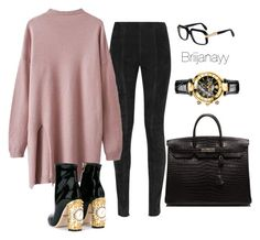 """""""11/30"""" by briijanayy on Polyvore featuring Balmain, Hermès, Versace, Cazal and Dolce&Gabbana"""