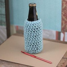 Father's Day Beer and Crochet Cozy Pattern — My Own Ideas